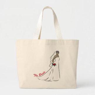 The Bride Totebag Large Tote Bag
