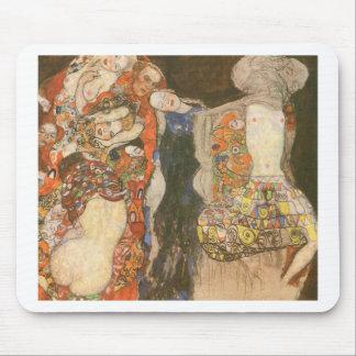 The Bride (unfinished) by Gustav Klimt Mouse Pad