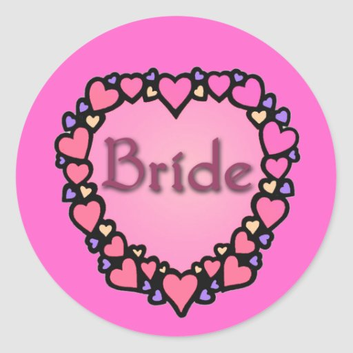 The Bride with Hearts Products Sticker