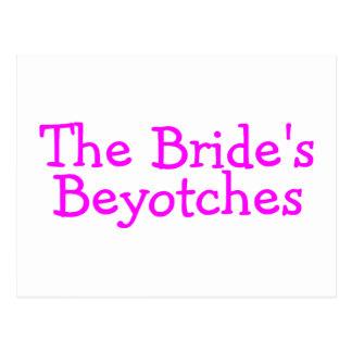 The Brides Beyotches Pink Postcard