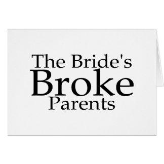 The Brides Broke Parents Cards