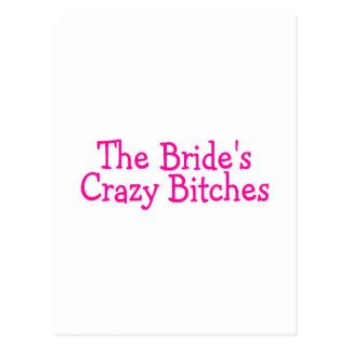 The Brides Crazy Bitches (Pink) Postcard