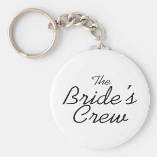 The Brides Crew Basic Round Button Keychain