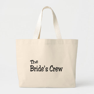 The Brides Crew (Black) Large Tote Bag