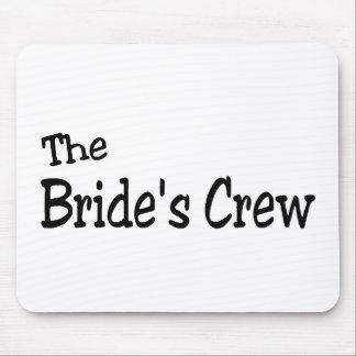 The Brides Crew (Black) Mousepad