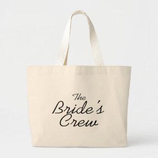 The Brides Crew Large Tote Bag