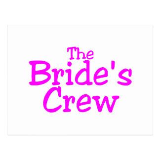 The Brides Crew (Pink) Postcard