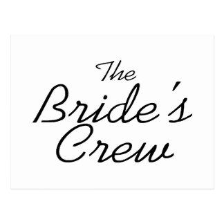 The Brides Crew Post Card