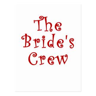 The Brides Crew Postcard