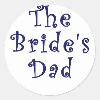 The Brides Dad Round Stickers