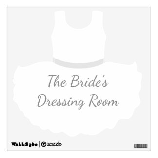 The Bride's Dressing Room Wedding Gown Wall Sticker