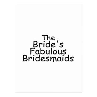 The Brides Fabulous Bridesmaids (Black) Postcard