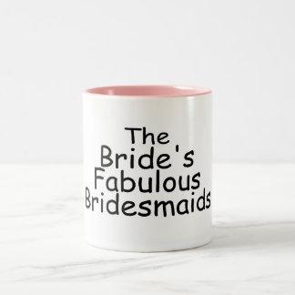 The Brides Fabulous Bridesmaids (Black) Two-Tone Coffee Mug