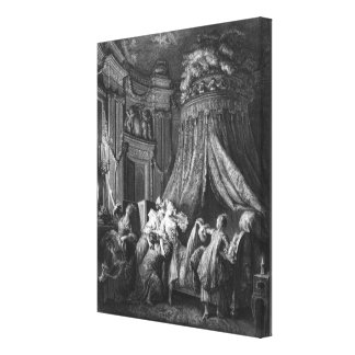 The bride's going-to-bed ceremony canvas print