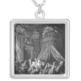 The bride's going-to-bed ceremony silver plated necklace