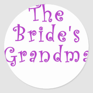 The Brides Grandma Classic Round Sticker