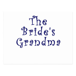 The Brides Grandma Postcard