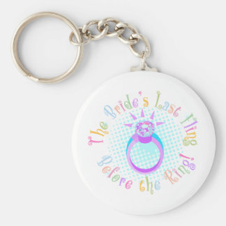 The Bride's Last Fling Before the Ring Keychain