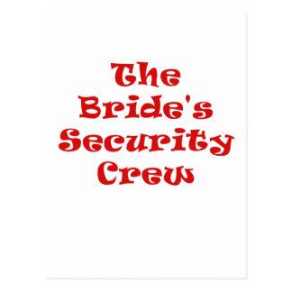 The Brides Security Crew Postcard