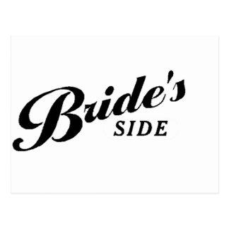 The Bride's Side Postcard