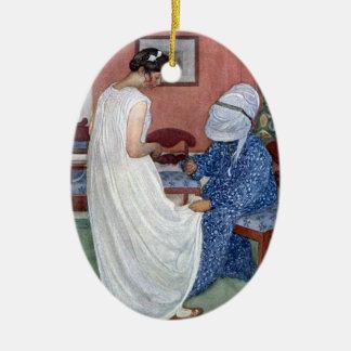 The Bridesmaid 1910 Ceramic Ornament
