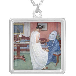 The Bridesmaid 1910 Silver Plated Necklace