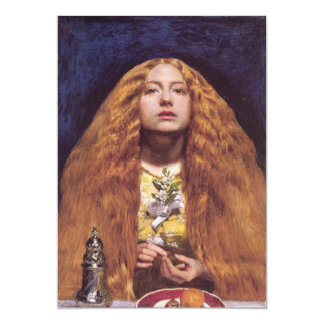 The Bridesmaid redhead 5x7 Paper Invitation Card