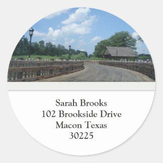 The Bridge Address Stickers
