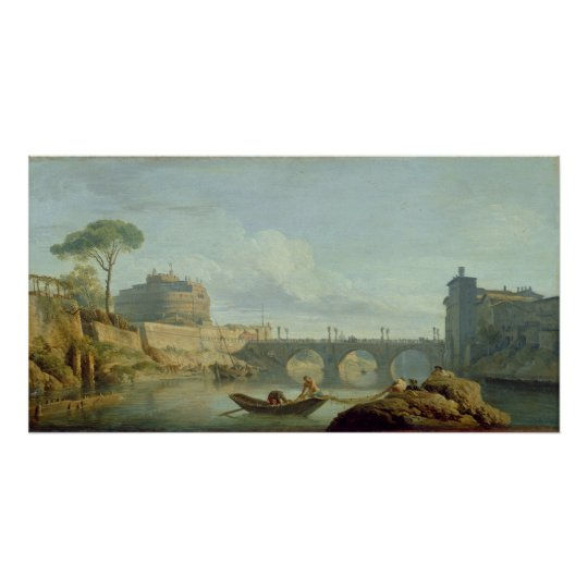 The Bridge and Castle Sant'Angelo, 1745 Poster