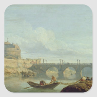 The Bridge and Castle Sant'Angelo, 1745 Square Sticker