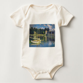 The Bridge at Argenteuil by Claude Monet Baby Bodysuit