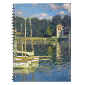 The Bridge at Argenteuil by Claude Monet Spiral Notebook