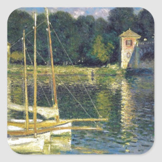 The Bridge at Argenteuil by Claude Monet Square Sticker