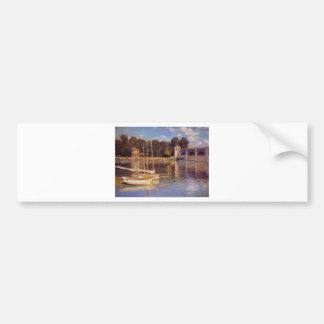 The Bridge at Argenteuil Claude Monet Bumper Sticker