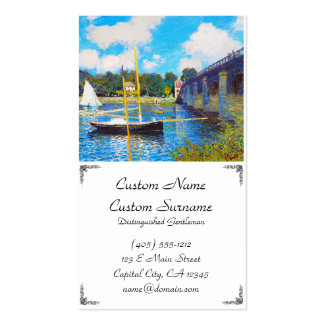 The Bridge at Argenteuil Claude Monet Double-Sided Standard Business Cards (Pack Of 100)