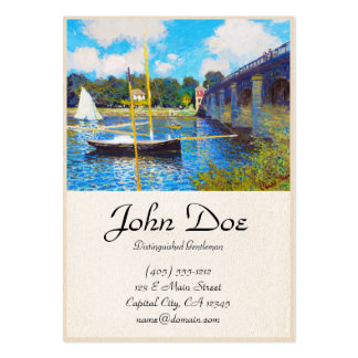 The Bridge at Argenteuil Claude Monet Large Business Cards (Pack Of 100)