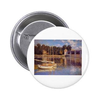 The Bridge at Argenteuil Claude Monet Pinback Button