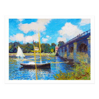 The Bridge at Argenteuil Claude Monet Postcard
