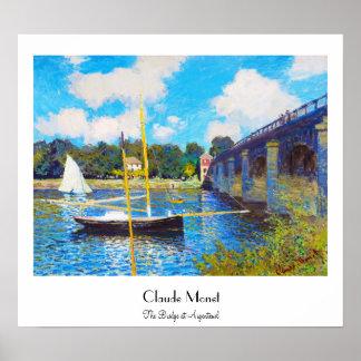 The Bridge at Argenteuil Claude Monet Poster