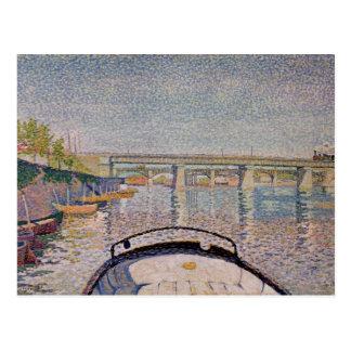 The Bridge at Asnieres, 1888 Postcard