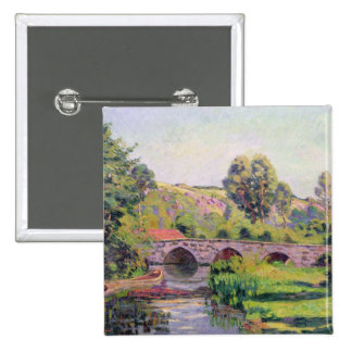 The Bridge at Boigneville, c.1894 Pinback Button