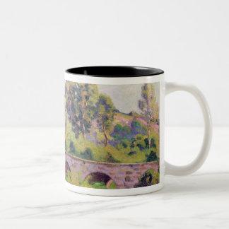 The Bridge at Boigneville, c.1894 Two-Tone Coffee Mug