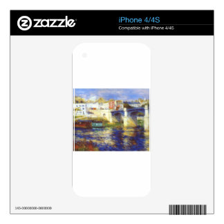The bridge at chatou by Pierre-Auguste Renoir Decals For iPhone 4S