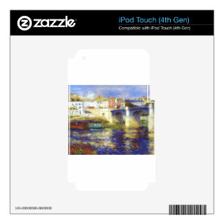 The bridge at chatou by Pierre-Auguste Renoir Decals For iPod Touch 4G