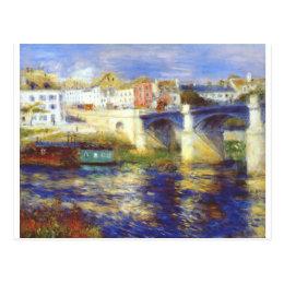 The bridge at chatou by Pierre-Auguste Renoir Postcard
