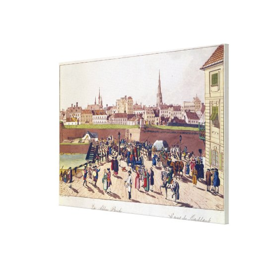 The Bridge at Leopoldstadt, Vienna, 1780 Canvas Print