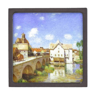The Bridge at Moret by Alfred Sisley Keepsake Box