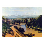 The Bridge At Narni By Corot Jean-Baptiste-Camille Post Card