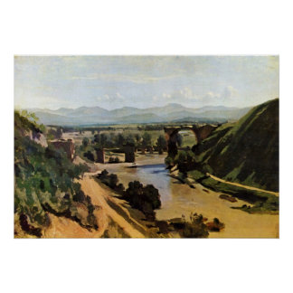 The Bridge at Narni by Jean-Baptiste-Camille Corot Poster