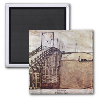 The Bridge By Schiele Egon Fridge Magnet